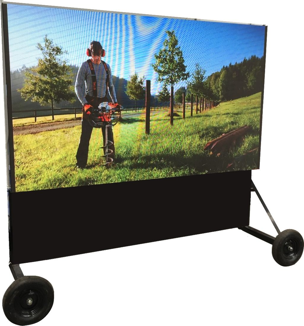 Screen on wheels for sale